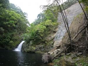 マテリヤの滝の道、修復工事中