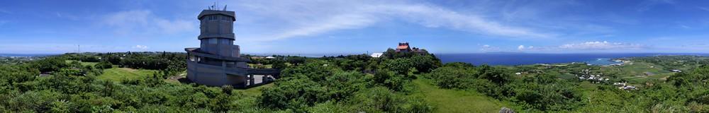 与論城(ぐすく)跡からパノラマ