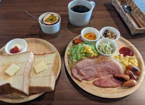 百合ヶ浜ビーチハウスの朝食
